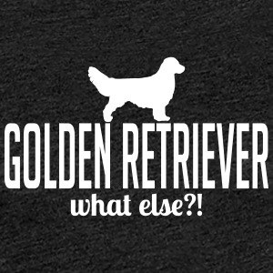 Golden retriever whatelse - Premium-T-shirt dam