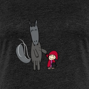 The Wolf and Little Red Riding Hood - Women's Premium T-Shirt
