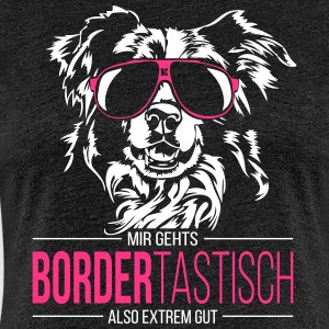BORDERTASTISCH Border Collie - Frauen Premium T-Shirt