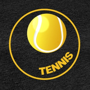 Tennis - Tennis Circle - Tennis Ball - Dame premium T-shirt