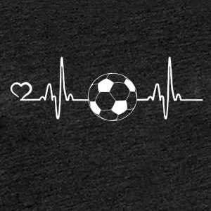 Voetbal - heartbeat - Vrouwen Premium T-shirt