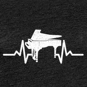 My heart beats for my piano - Women's Premium T-Shirt