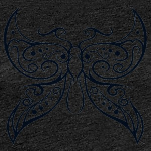 butterfly Transparent1 - Dame premium T-shirt