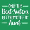 Only The Best Sisters Get Promoted To Aunt - Premium T-skjorte for kvinner