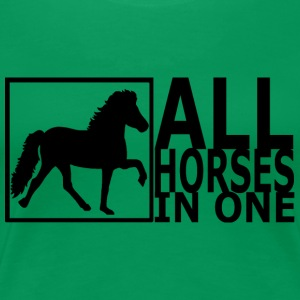 all horses in one sort - Dame premium T-shirt