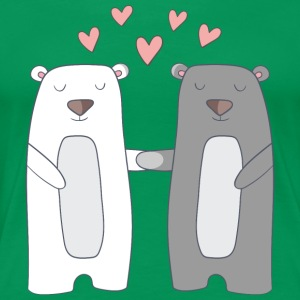 Bears in Love - Vrouwen Premium T-shirt