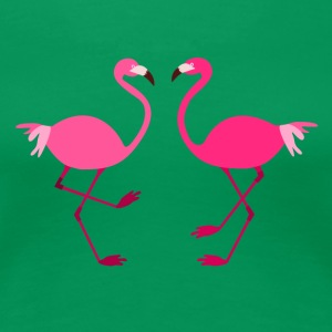 Flamingos for Spread shirts - Dame premium T-shirt