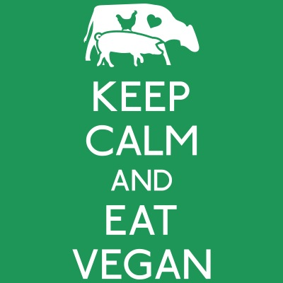 Keep Calm eat vegan punainen car syö vegaani