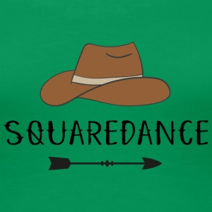 square dance - Premium-T-shirt dam