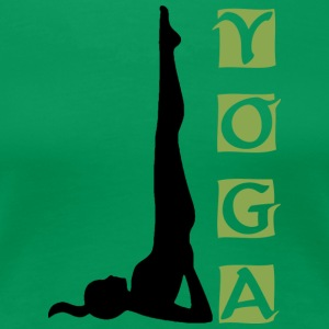 Yoga Shoulder Stand - Women's Premium T-Shirt