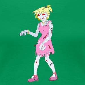 Zombie Collection: Zombie Lady - Naisten premium t-paita