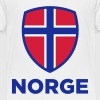 National Flag av Norge Topper - Premium T-skjorte for barn