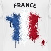France Text Landkarte Flagge Graffiti - Kinder Premium T-Shirt