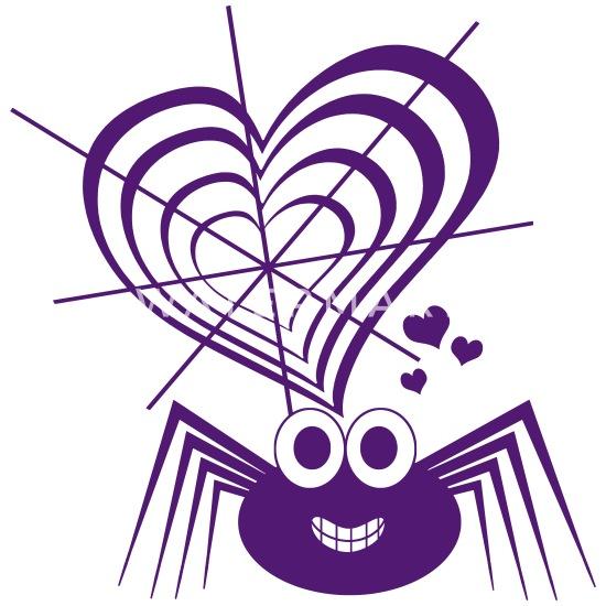 spinnennetz mit lustiger comicspinne kinder premium t