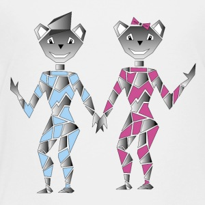 Robot couple - Kids' Premium T-Shirt