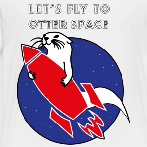 LET'S FLY Otter SPACE - Red Rocket - Premium-T-shirt barn