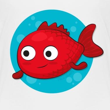 Petit poisson rouge t shirt premium enfant spreadshirt - Poisson rouge rigolo ...