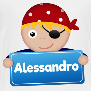 Little Pirate Alessandro - Premium-T-shirt barn