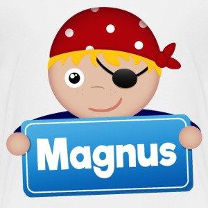 Little Pirate Magnus - Premium-T-shirt barn