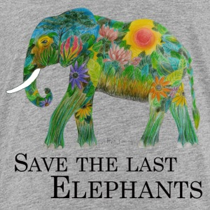 Protect the last elephants - Kids' Premium T-Shirt