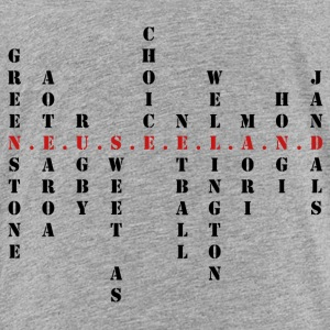 Nya Zeeland Scrabble red - Premium-T-shirt barn