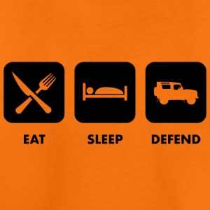 Eat, Sleep & Verteidigung - Kinder Premium T-Shirt