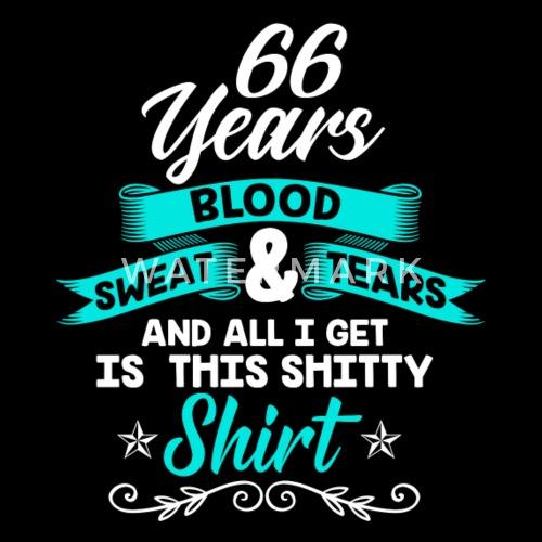 Geburtstag 66 Jahre Shirt Geburtstag Lustig Kinder Premium T