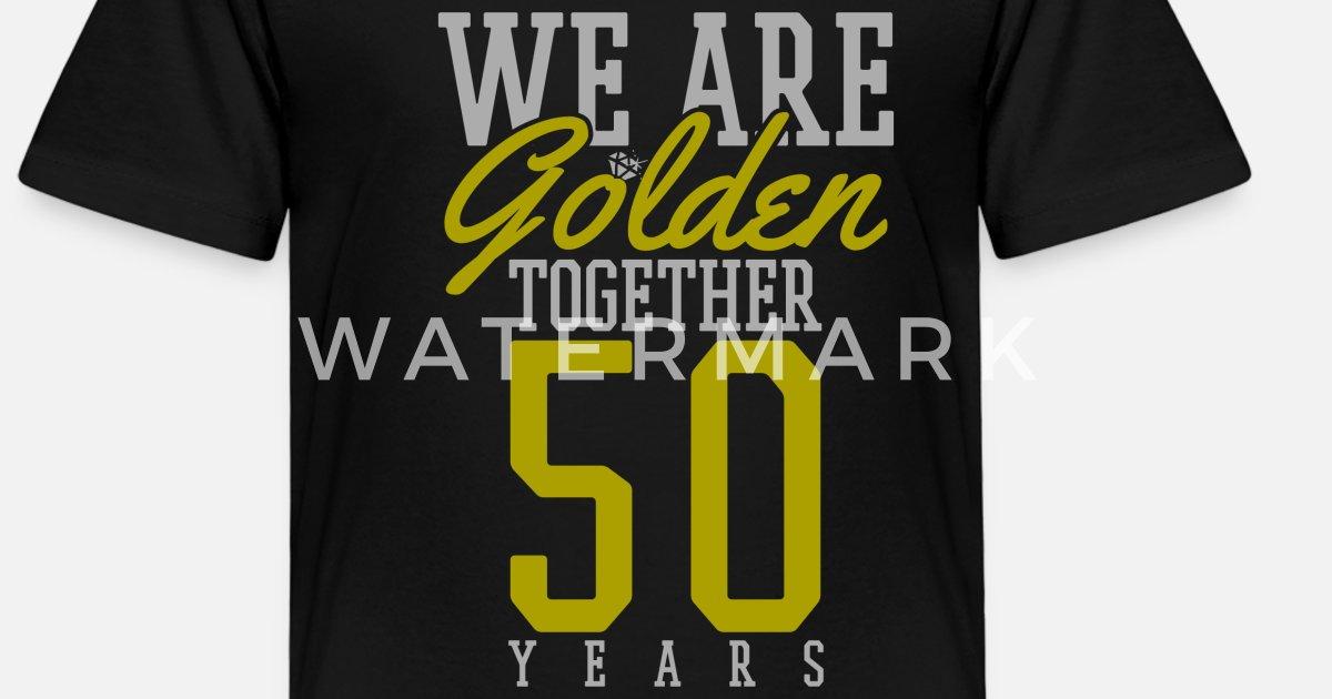 Goldene Hochzeit 50 Hochzeitstag Geschenk Kinder Premium T Shirt Spreadshirt
