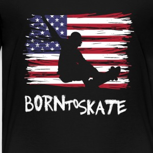 born to skate usa flagge board halfpipe cool fun12 - Kinder Premium T-Shirt