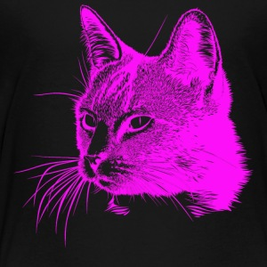 Cat head pink, cat, cat, domestic cat - Kids' Premium T-Shirt