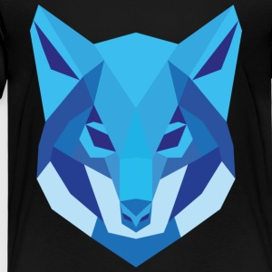 Wolf Low Polygon - Kinder Premium T-Shirt