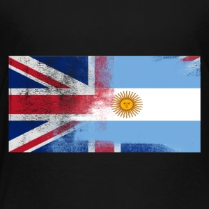 British Argentina Argentina Half Half UK Flag - Premium T-skjorte for barn