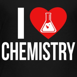 I LOVE CHEMISTRY WHITE - Kinder Premium T-Shirt