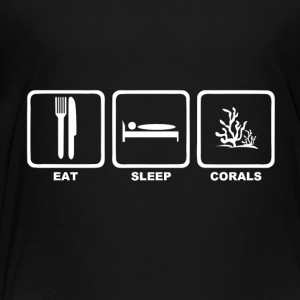 Eat sleep corals with text - Kids' Premium T-Shirt