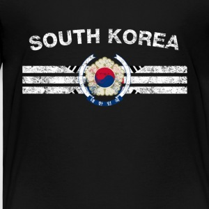 South Korea Flag Shirt - South Korea Emblem & Salt - Kids' Premium T-Shirt