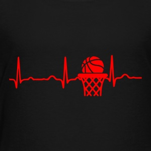 ECG HEARTBEAT BASKETBALL red - Kids' Premium T-Shirt