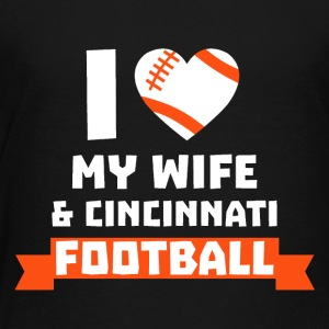 I love wife and cincinnati football - Kids' Premium T-Shirt