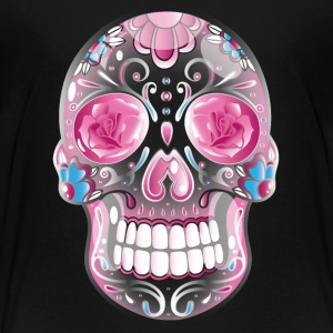 Traditional Mexican sugar skull, day of the dead.