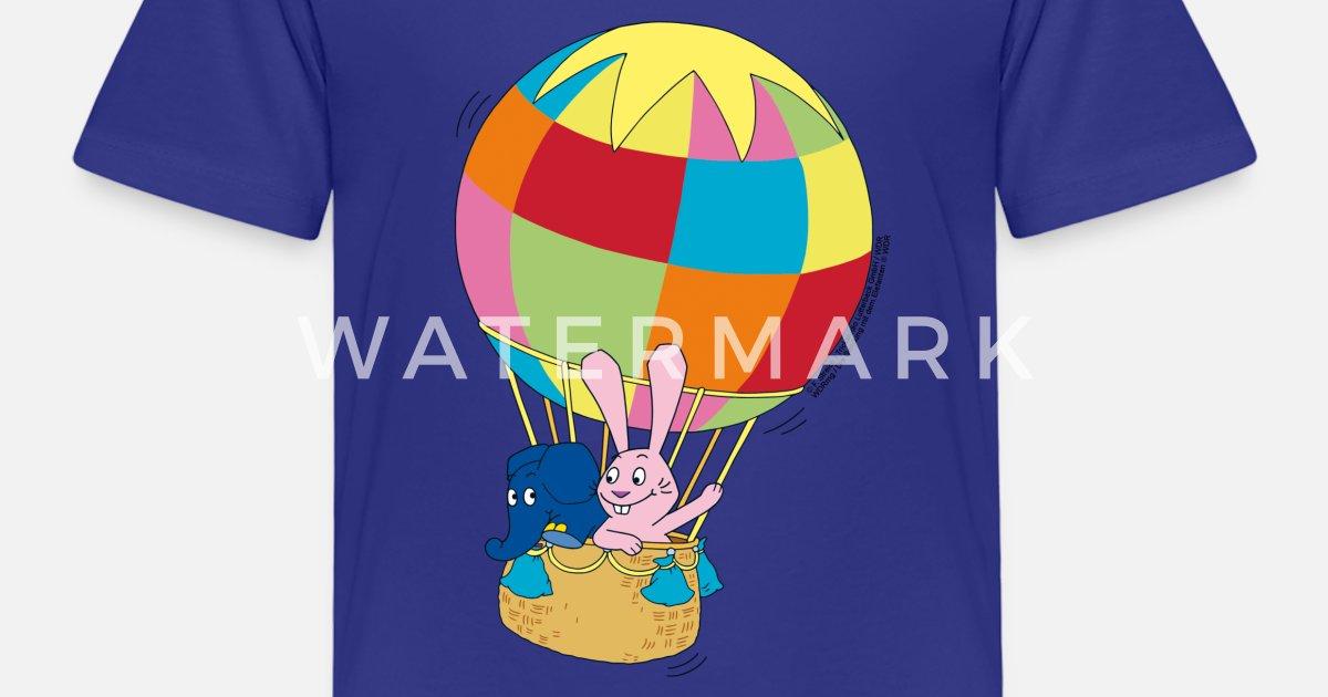 elefant und hase  ballon fahren kinder premium tshirt