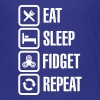 Eat Sleep Fidget Repeat - Fidget Spinner - Premium T-skjorte for barn