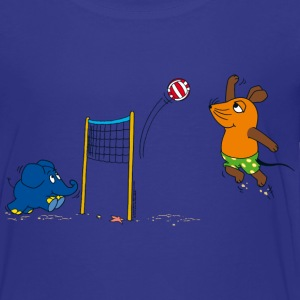 Kinder-T-Shirt 'Maus & Elefant' - Volleyball