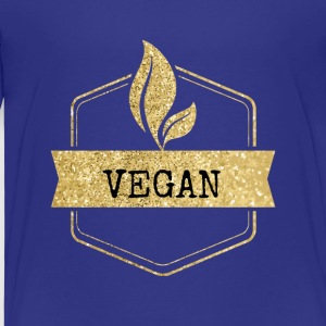 goldenes Vegan Vegetarierer Design - Kinder Premium T-Shirt