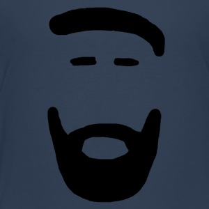 Man with Beard black - Kids' Premium T-Shirt