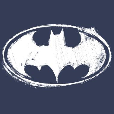 Batman Logo White Chalk Teenager Langarmshirt Af Batman Spreadshirt