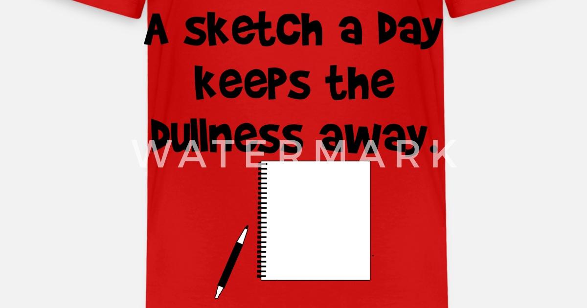 A Sketch a Day Zeichner Bleistift Spruch Geschenk von TeeLavio ...