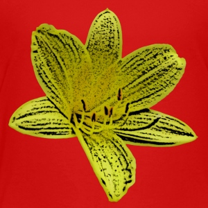 Lilies yellow 1 cartoon - Kids' Premium T-Shirt