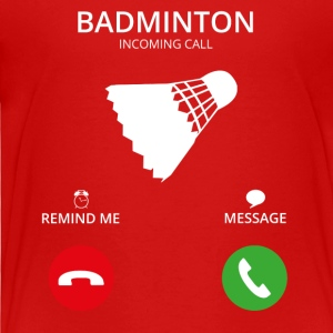 Ring Mobile Call badminton - Premium-T-shirt barn