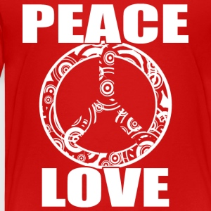 Peace Love T-paita Peace and Love Peace Sign - Lasten premium t-paita