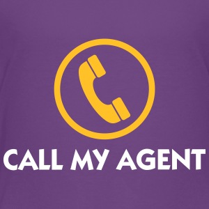 Ring min agent! - Premium-T-shirt barn