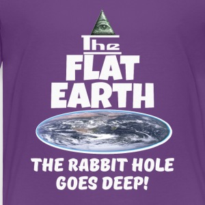 The Flat Earth conspiracy - rabbit hole goes deep - Kids' Premium T-Shirt